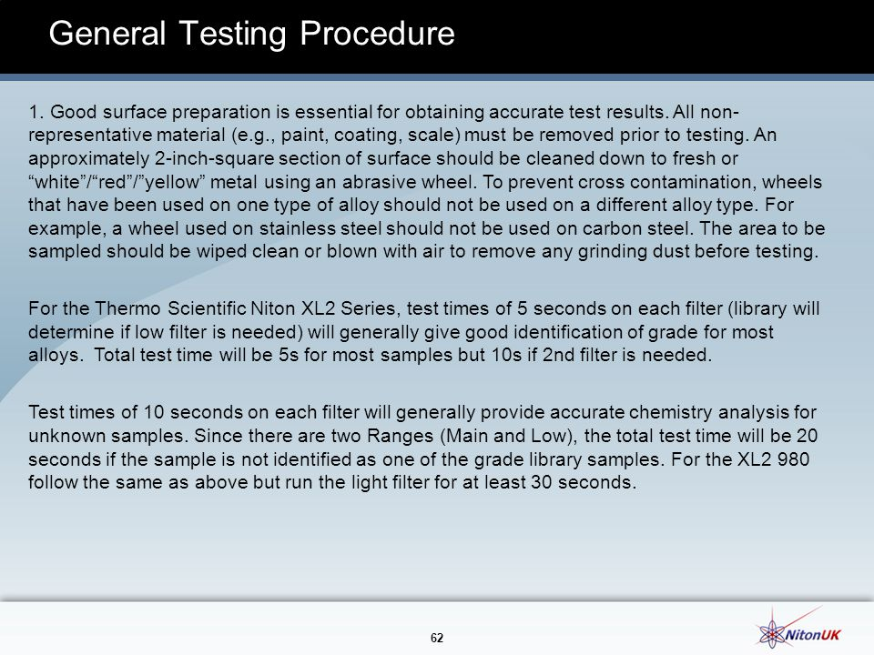 General Testing Procedure