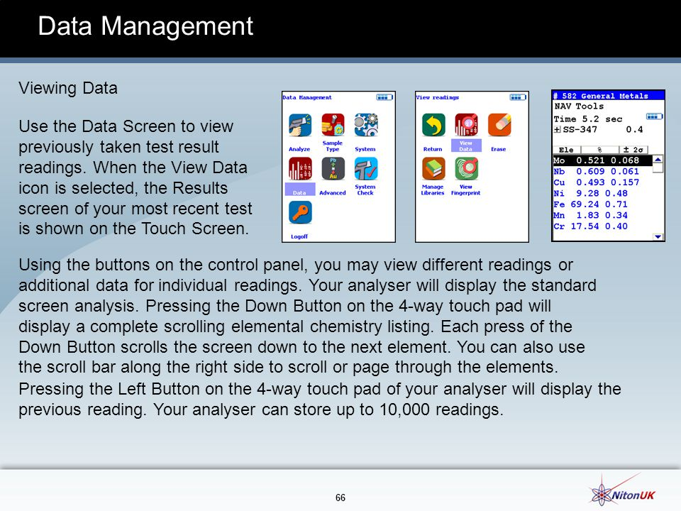 Data Management Viewing Data