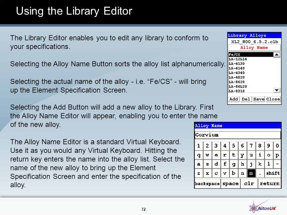 Using the Library Editor