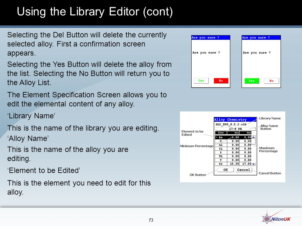 Using the Library Editor (cont)