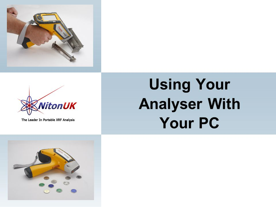 Using Your Analyser With Your PC