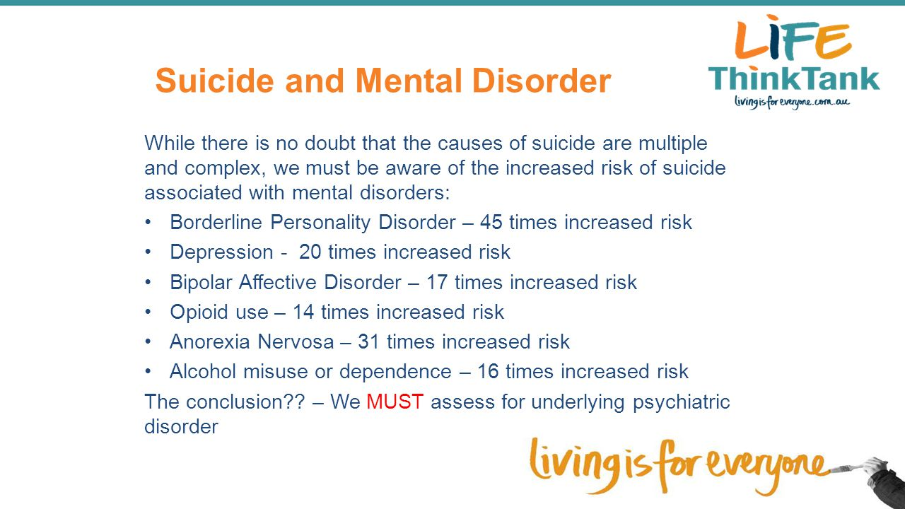 Suicide and Mental Disorder