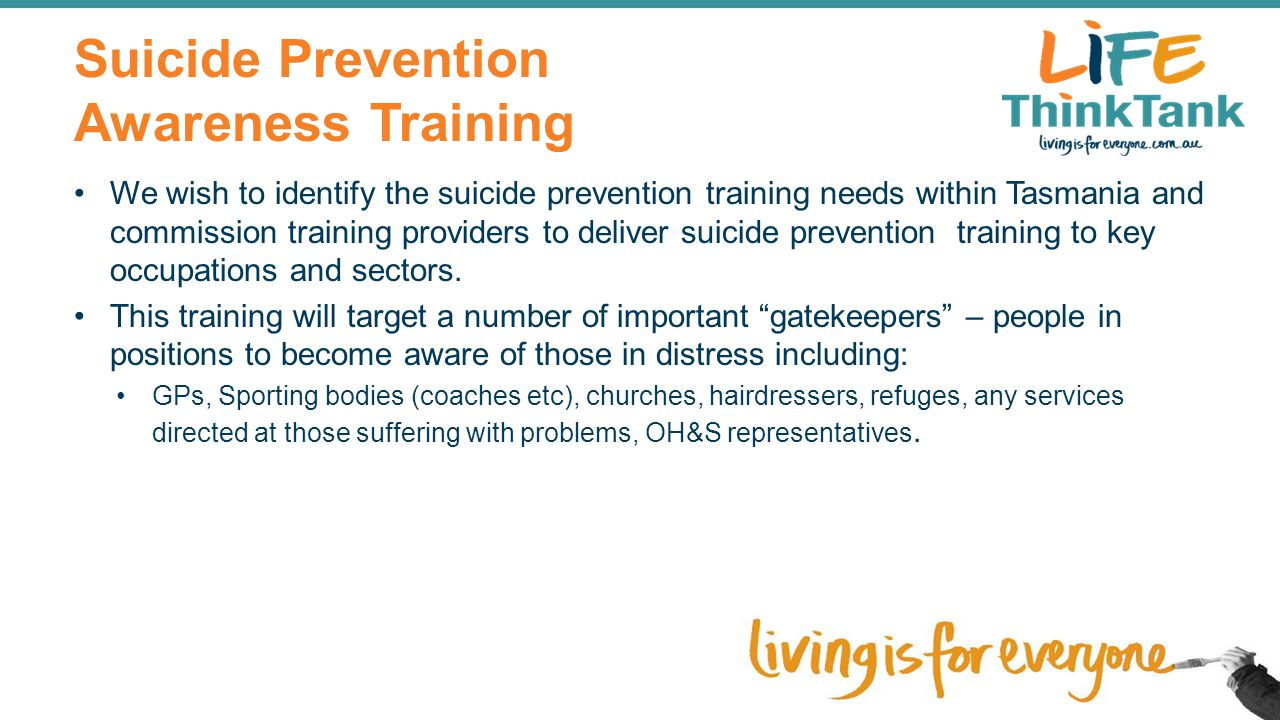 Suicide Prevention Awareness Training