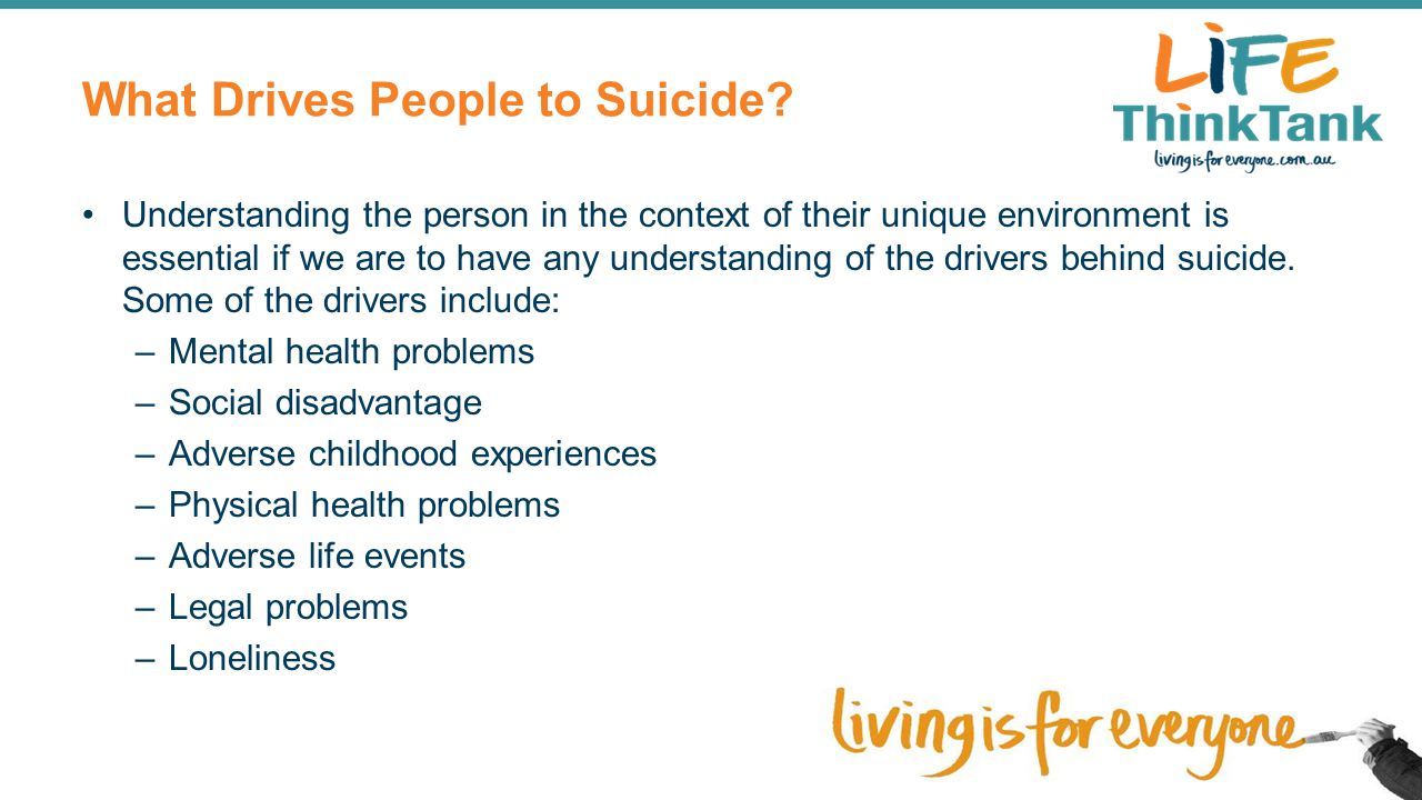 What Drives People to Suicide
