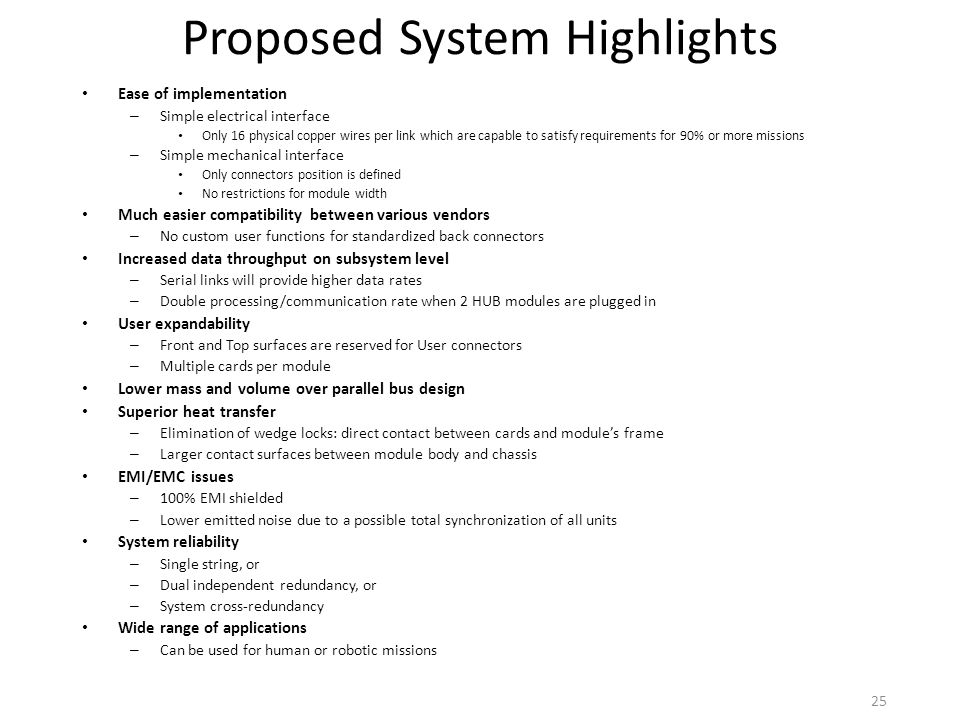 Proposed System Highlights