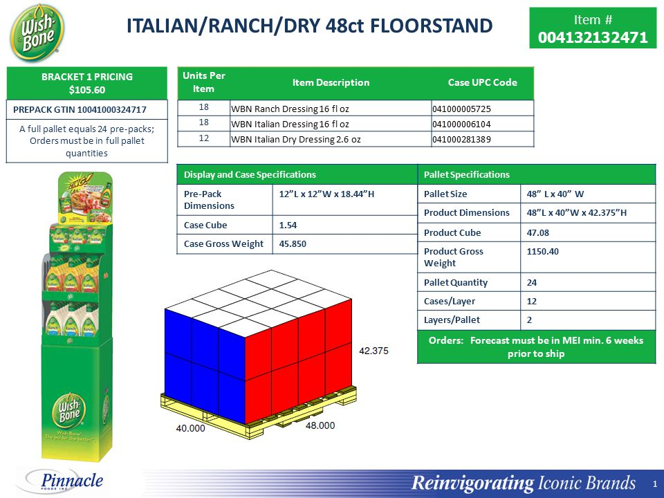 ITALIAN/RANCH/DRY 48ct FLOORSTAND