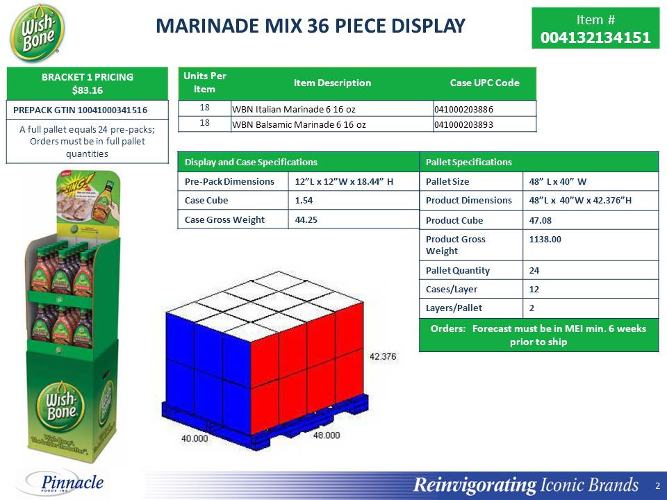 MARINADE MIX 36 PIECE DISPLAY