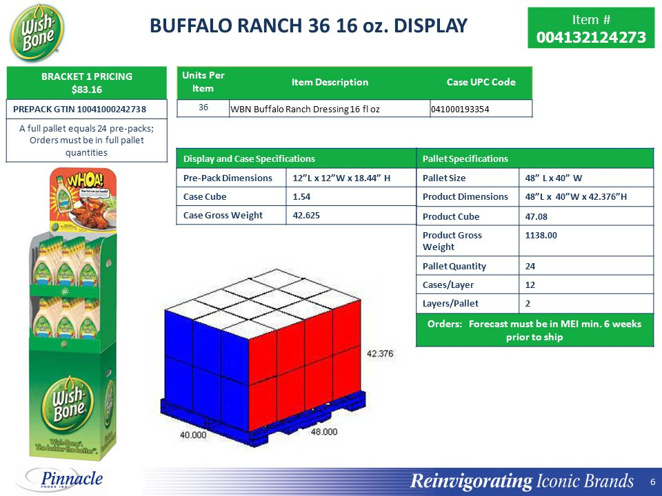 BUFFALO RANCH 36 16 oz. DISPLAY