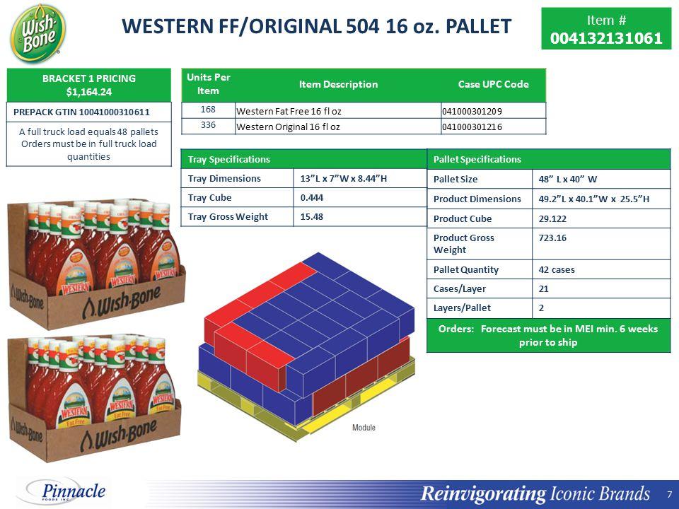 WESTERN FF/ORIGINAL 504 16 oz. PALLET