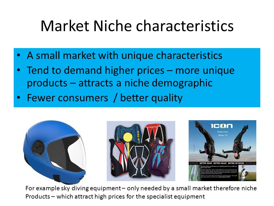 Market Niche characteristics