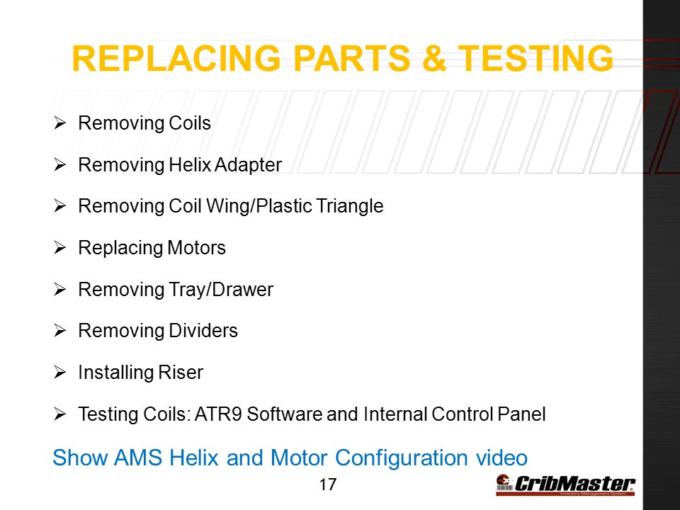 Replacing parts & Testing