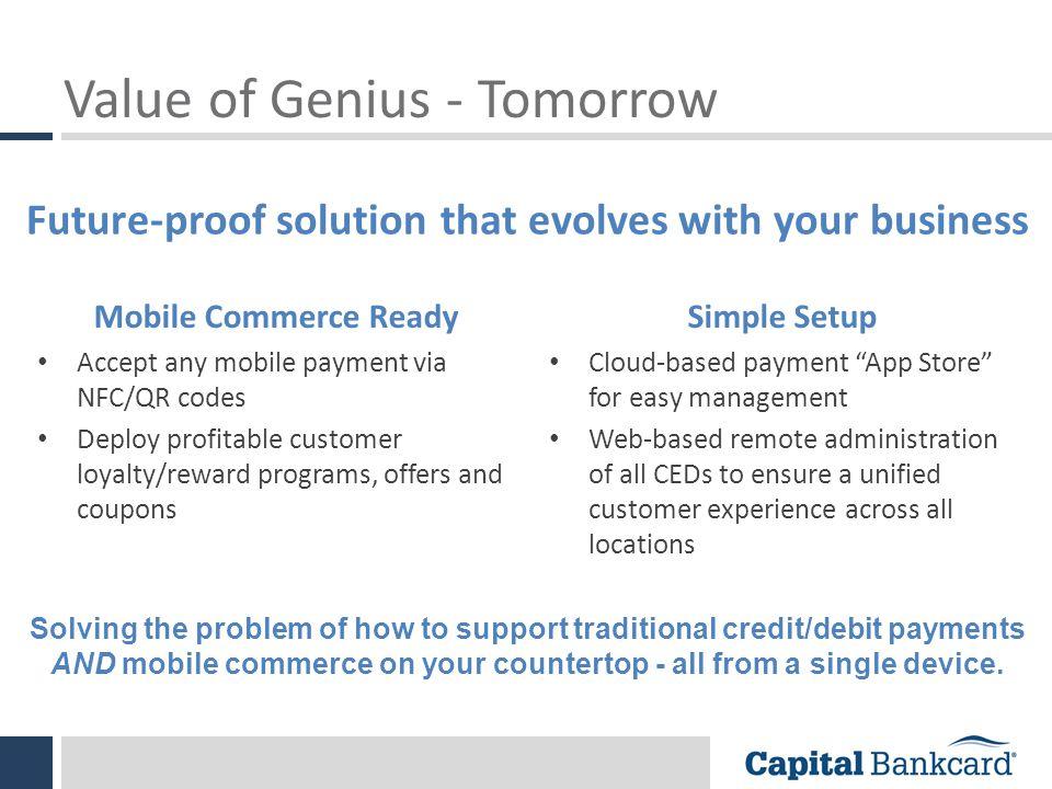 Value of Genius - Tomorrow