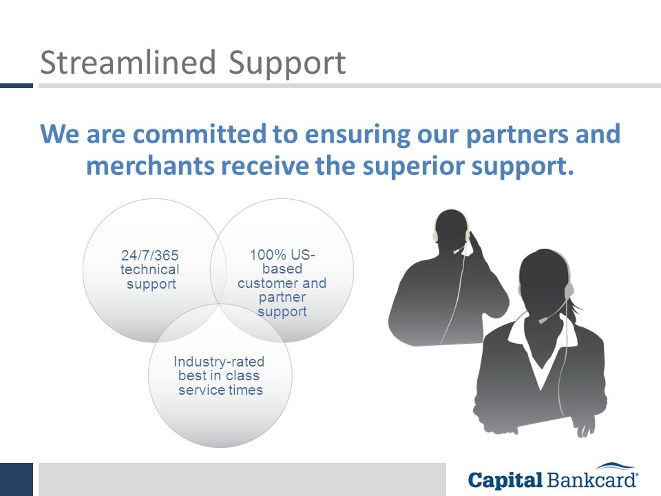 Streamlined Support We are committed to ensuring our partners and merchants receive the superior support.