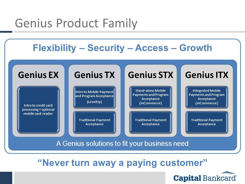 Flexibility – Security – Access – Growth
