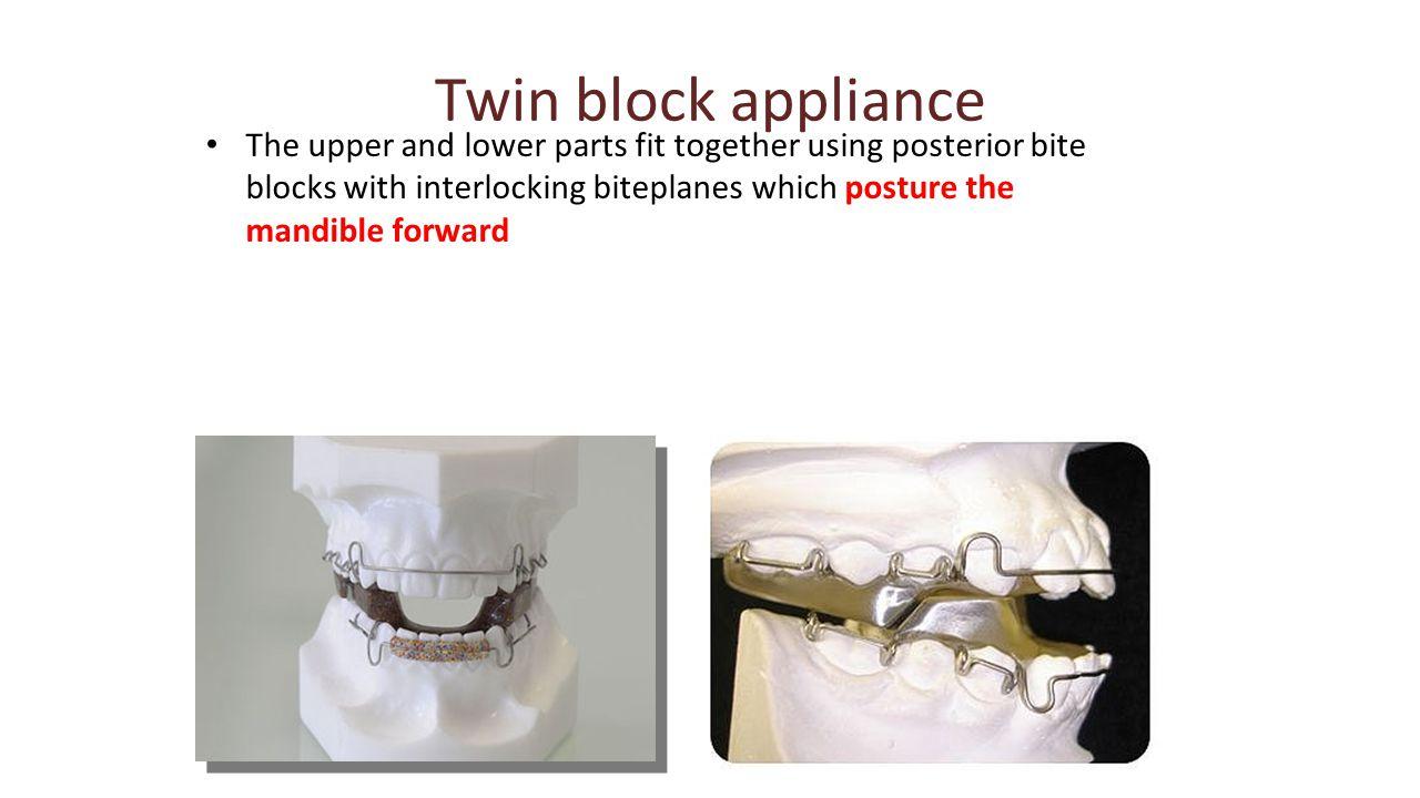 Twin block appliance