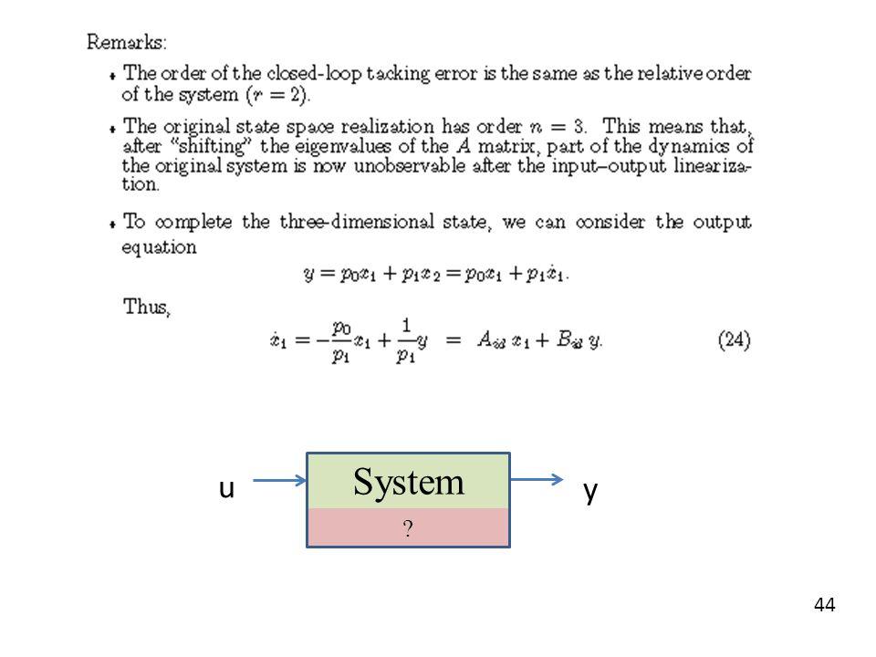 System u y
