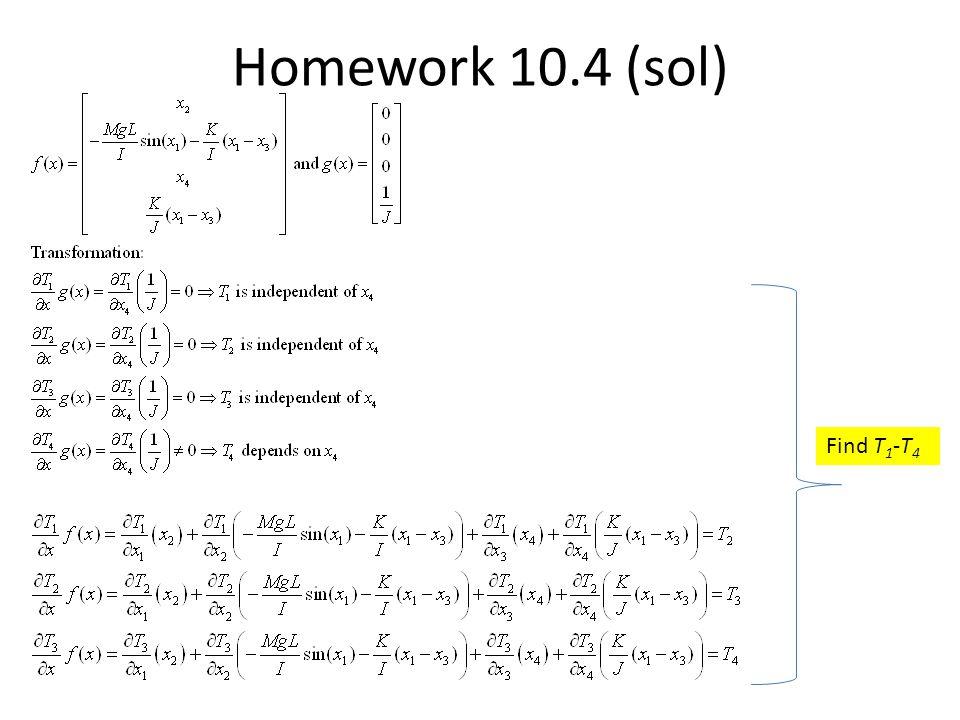Homework 10.4 (sol) Find T1-T4