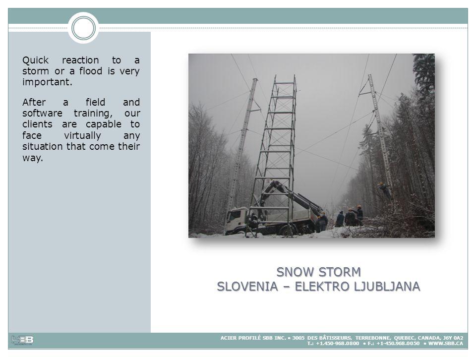 SNOW STORM SLOVENIA – ELEKTRO LJUBLJANA
