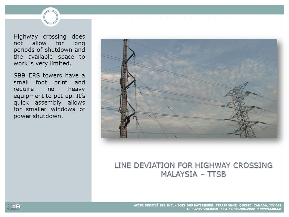LINE DEVIATION FOR HIGHWAY CROSSING MALAYSIA – TTSB