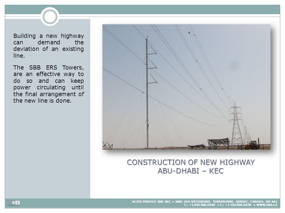 CONSTRUCTION OF NEW HIGHWAY ABU-DHABI – KEC