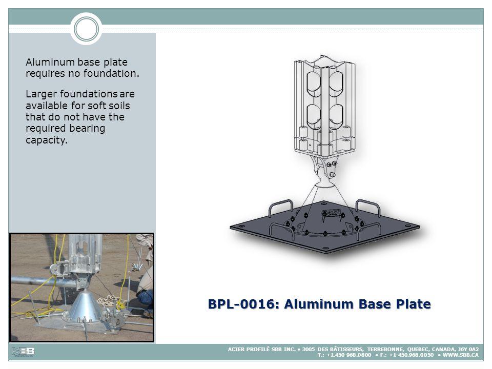 BPL-0016: Aluminum Base Plate