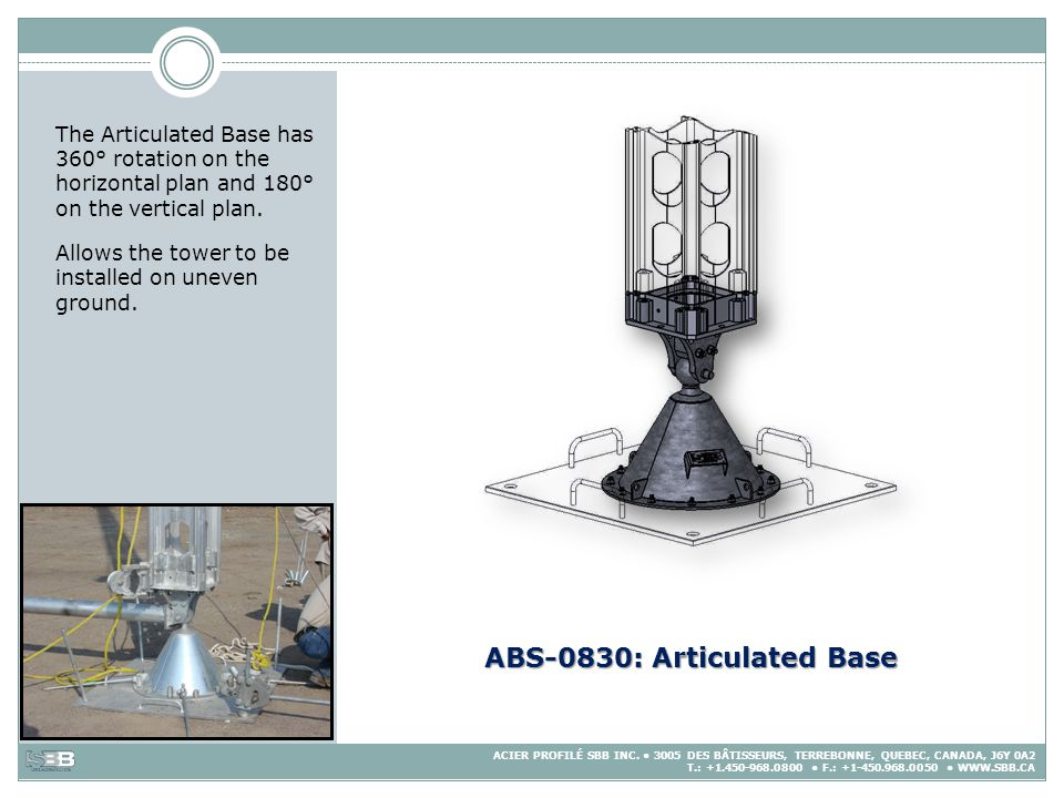 ABS-0830: Articulated Base