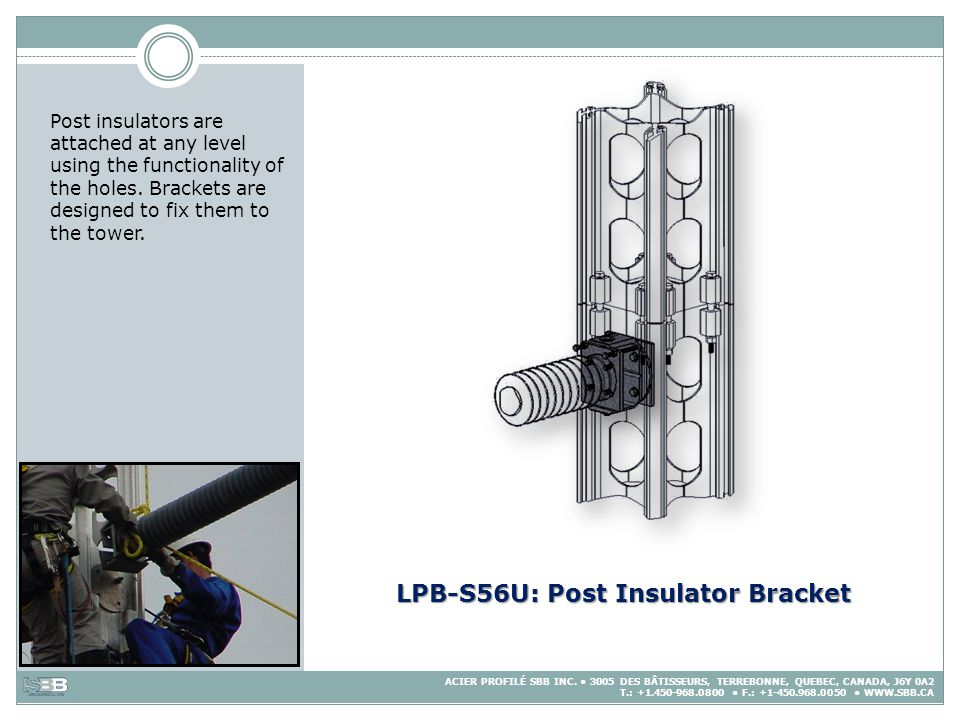 LPB-S56U: Post Insulator Bracket