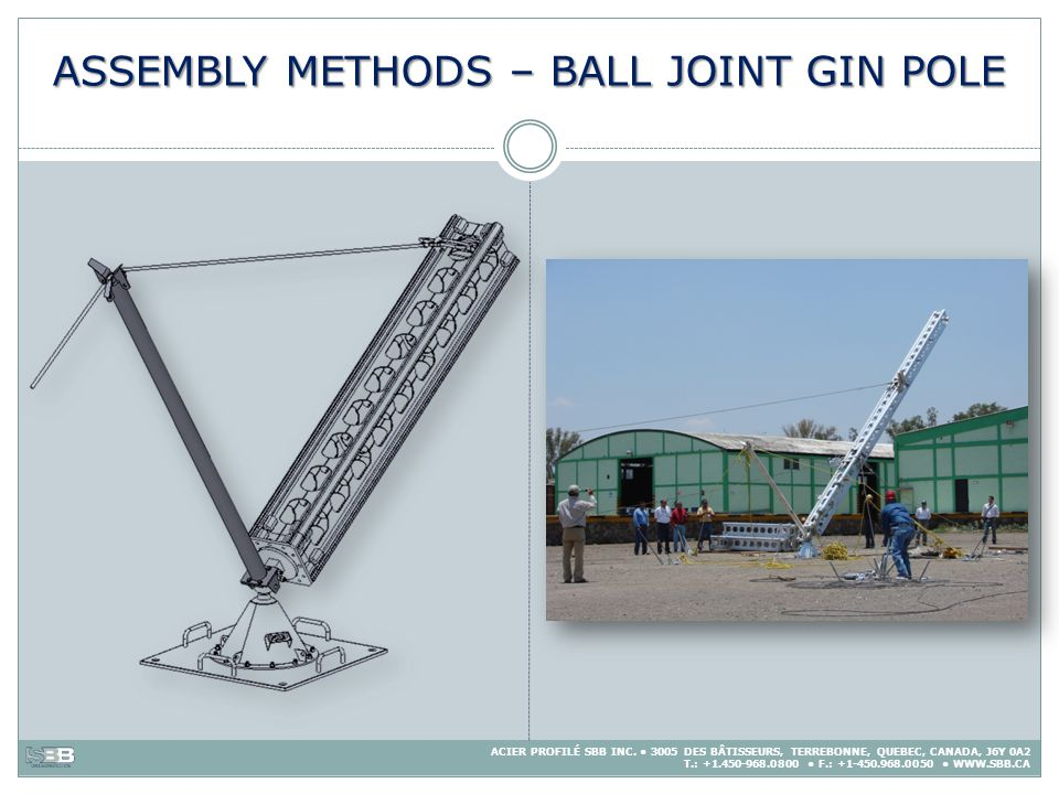 ASSEMBLY METHODS – BALL JOINT GIN POLE