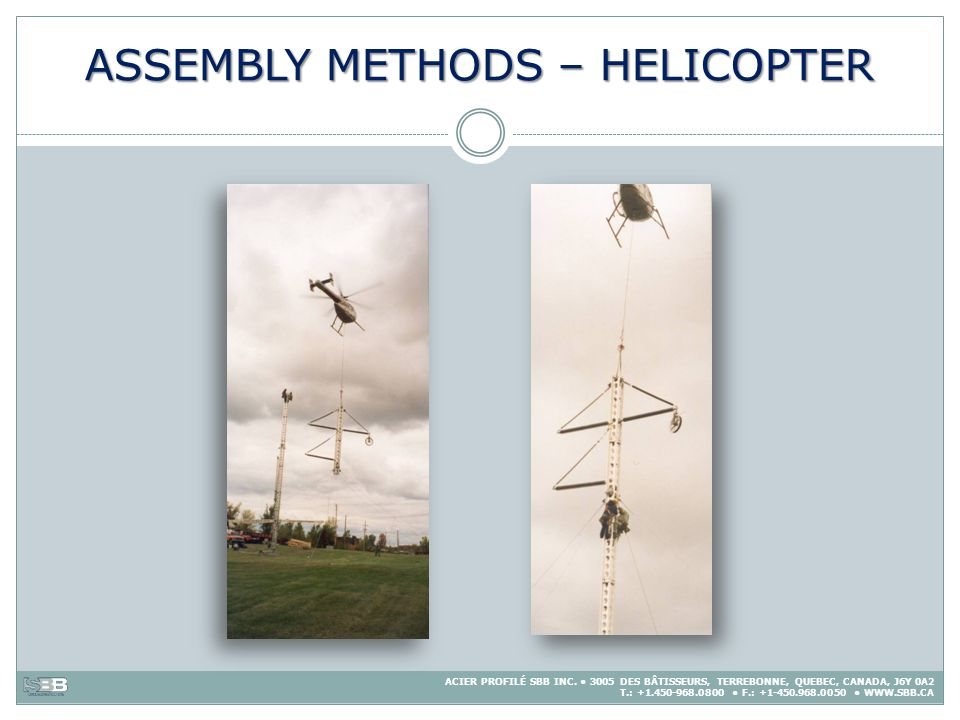 ASSEMBLY METHODS – HELICOPTER