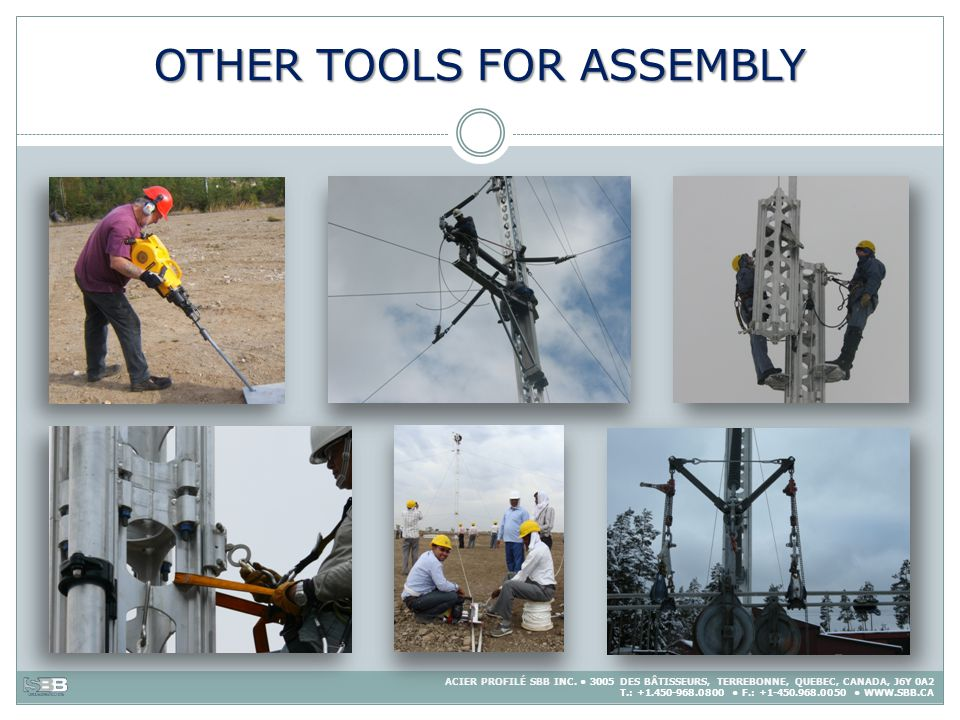 OTHER TOOLS FOR ASSEMBLY