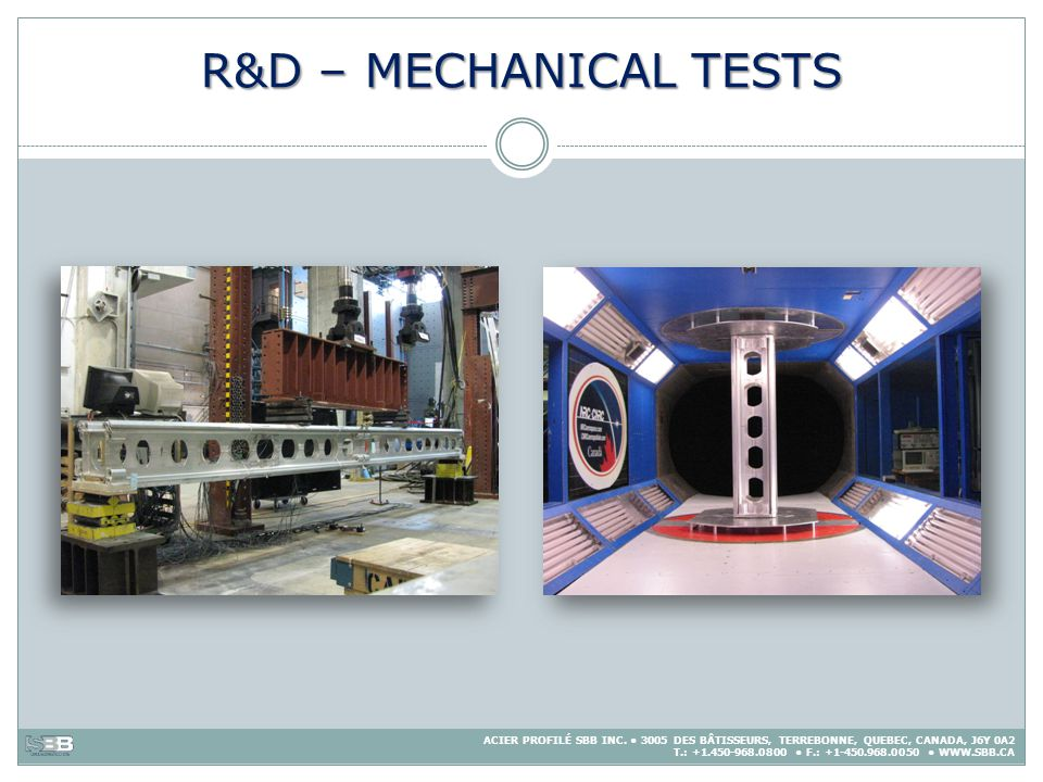 R&D – MECHANICAL TESTS
