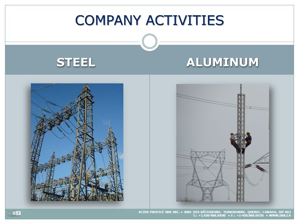 COMPANY ACTIVITIES STEEL ALUMINUM