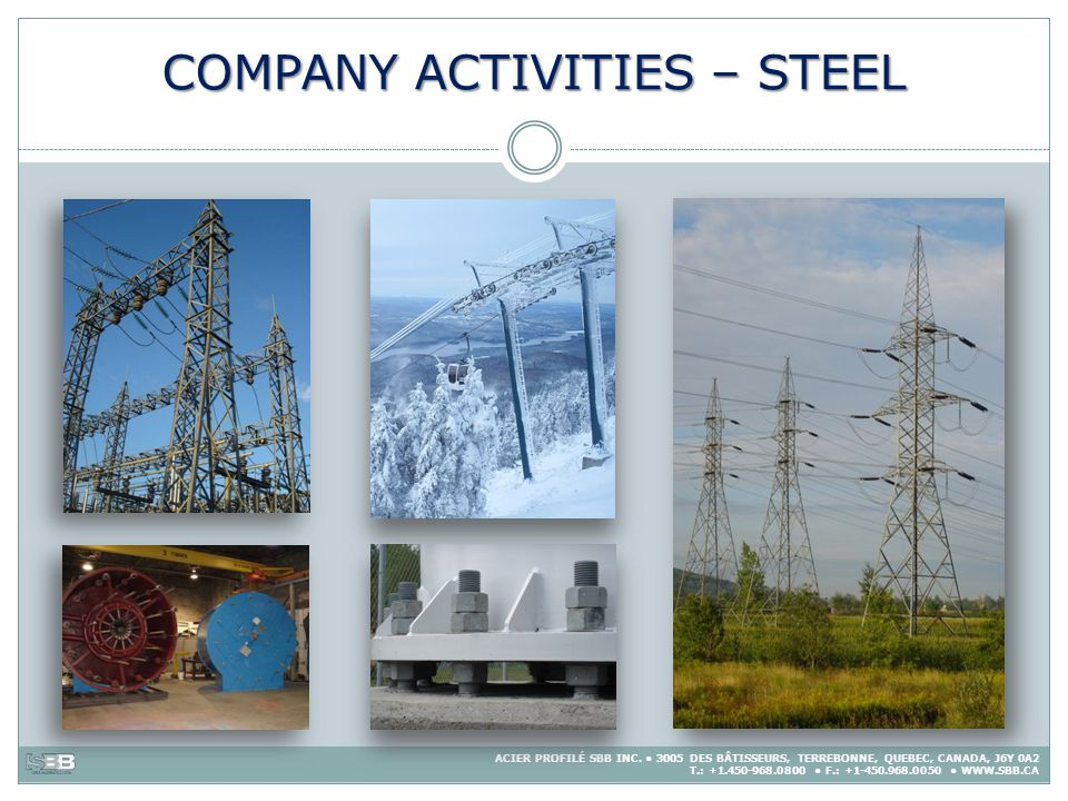 COMPANY ACTIVITIES – STEEL