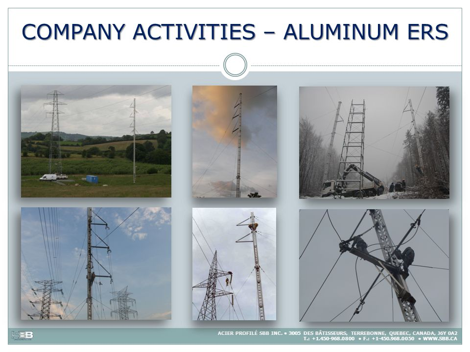 COMPANY ACTIVITIES – ALUMINUM ERS