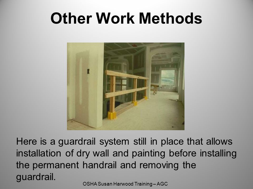 Other Work Methods Here is the same system still in place through Mechanical, Electrical, Plumbing installation and dry wall.