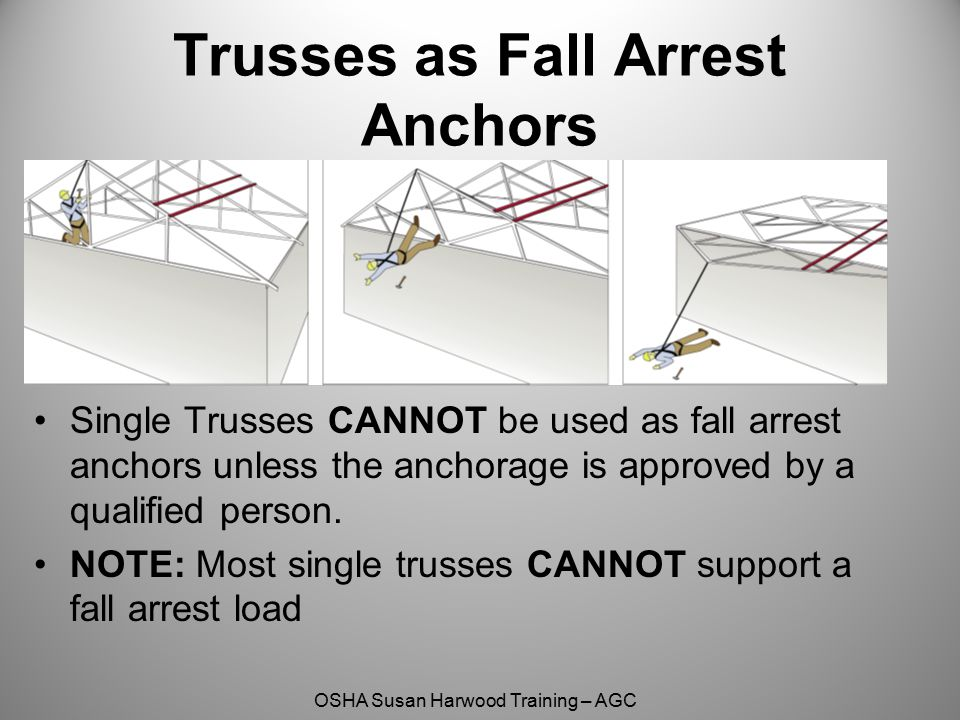 Trusses as Fall Arrest Anchors