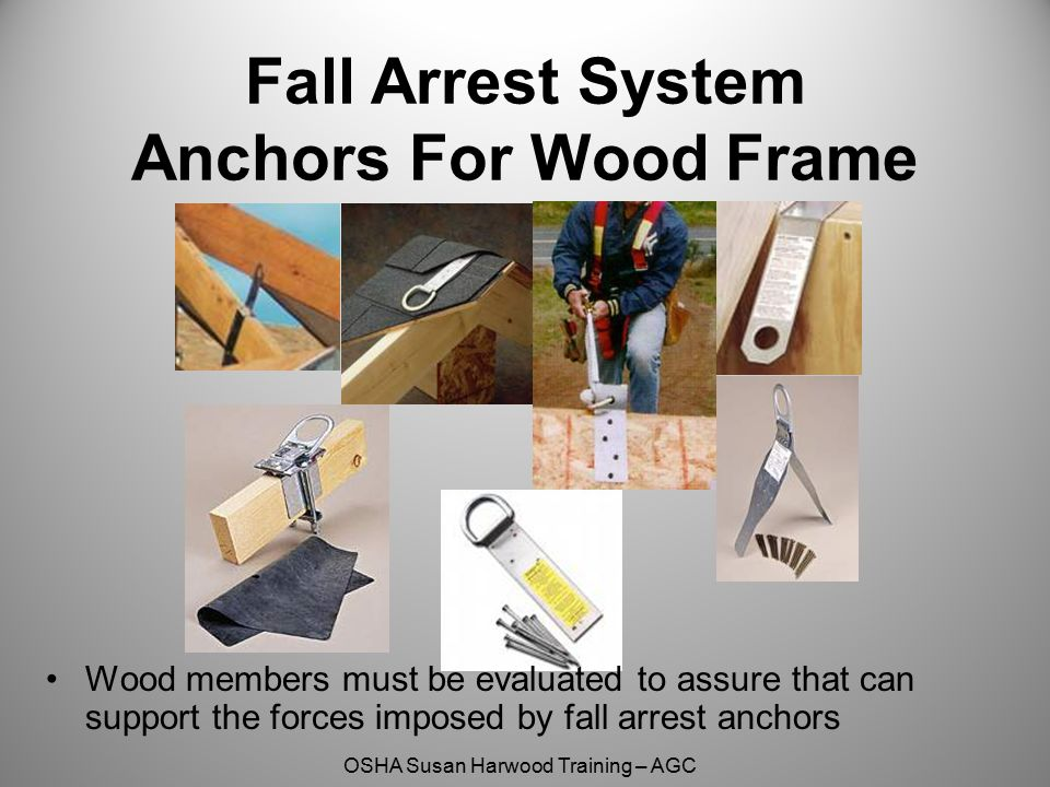 Fall Arrest System Anchors For Wood Frame