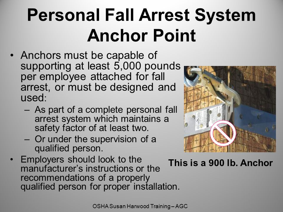 Personal Fall Arrest System Anchor Point