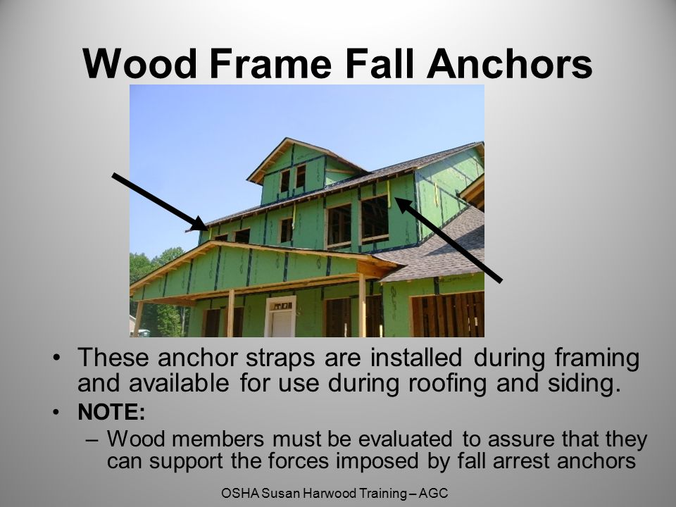 Wood Frame Fall Anchors