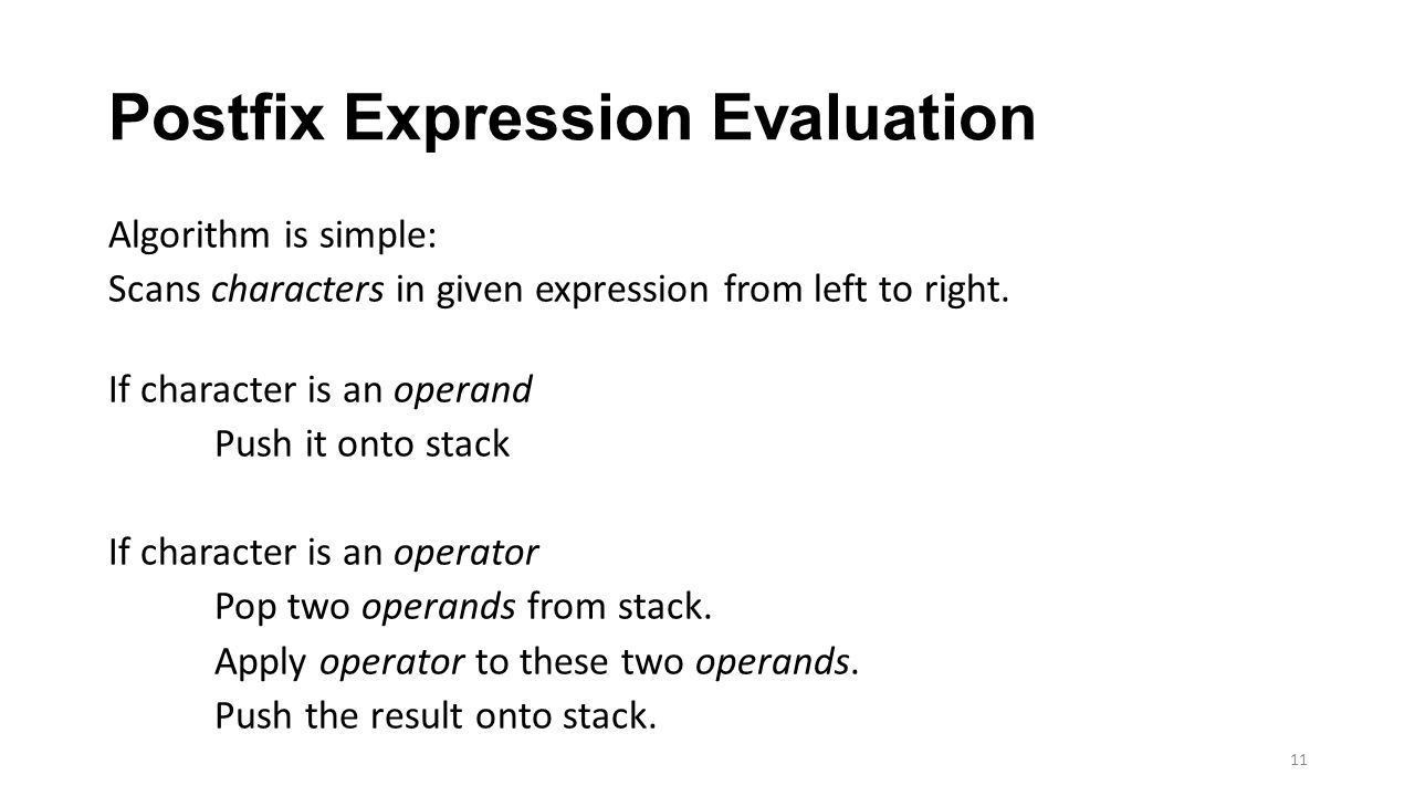 Postfix Expression Evaluation