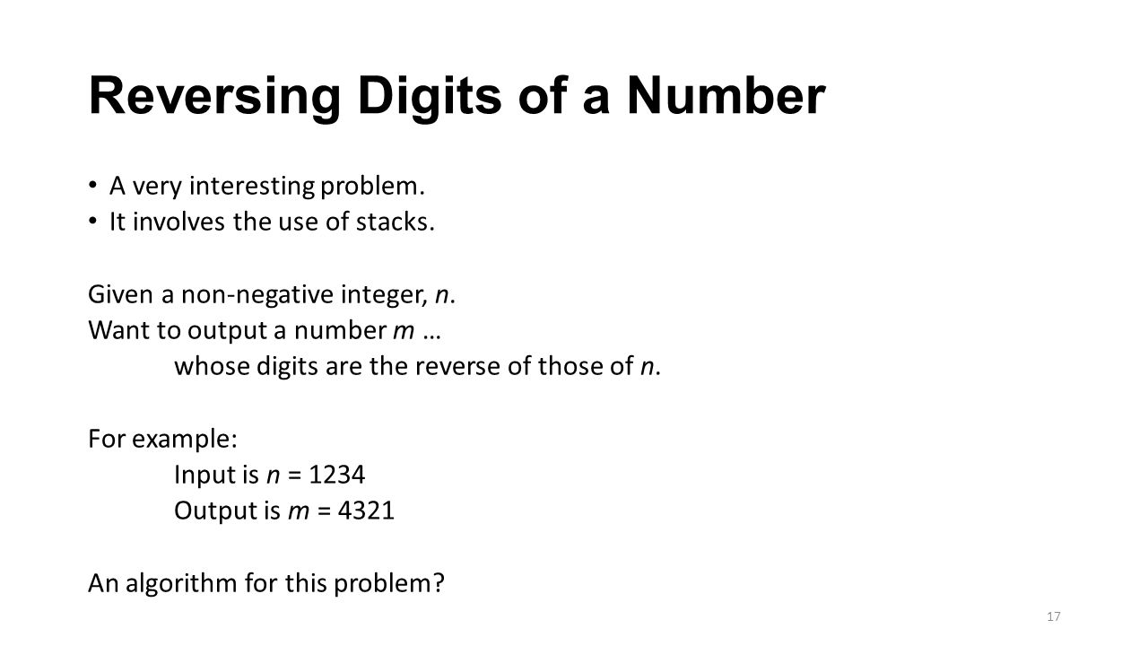Reversing Digits of a Number
