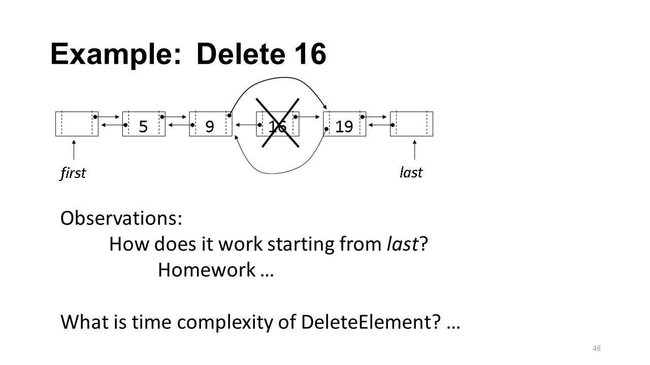 Example: Delete 16 Observations: How does it work starting from last