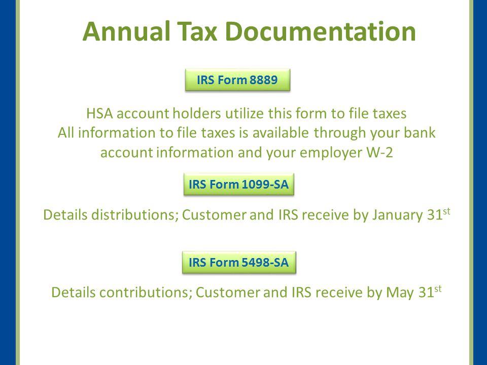 Annual Tax Documentation