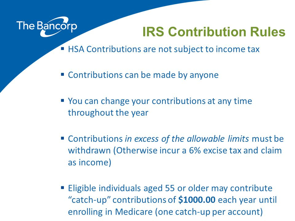 IRS Contribution Rules