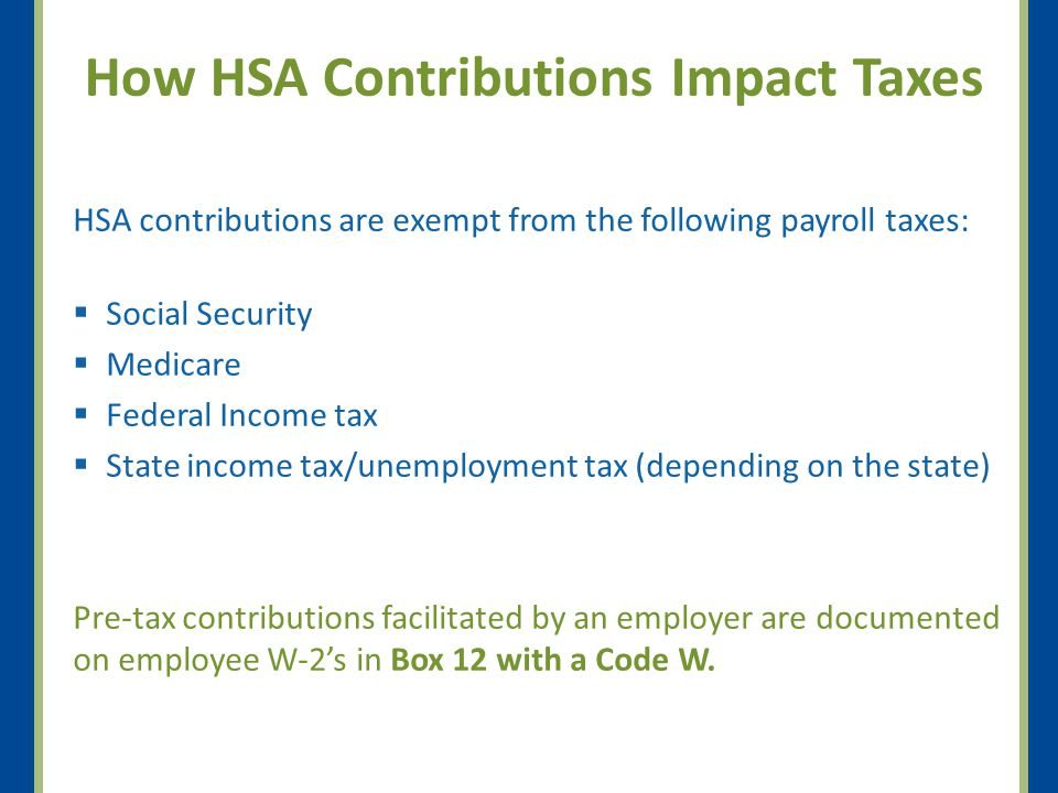 How HSA Contributions Impact Taxes