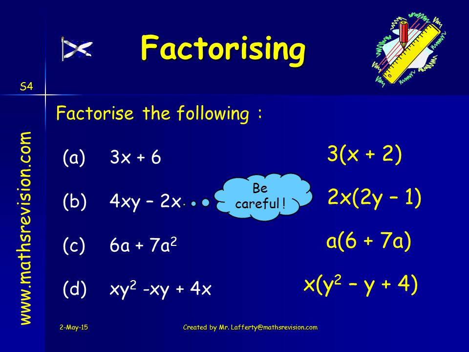 Created by Mr. Lafferty@mathsrevision.com