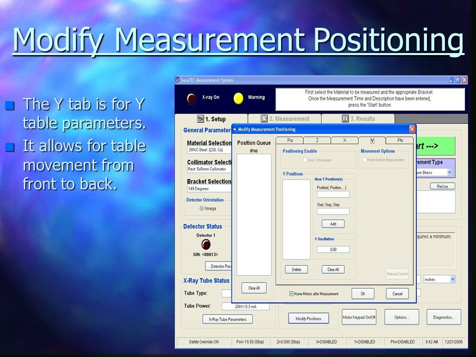 Modify Measurement Positioning