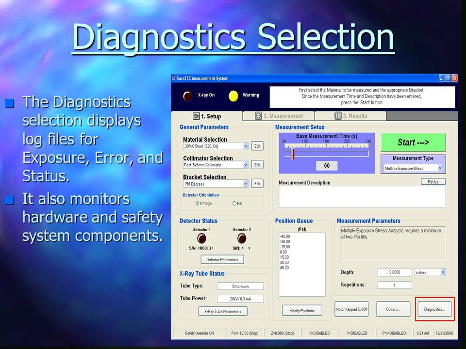 Diagnostics Selection
