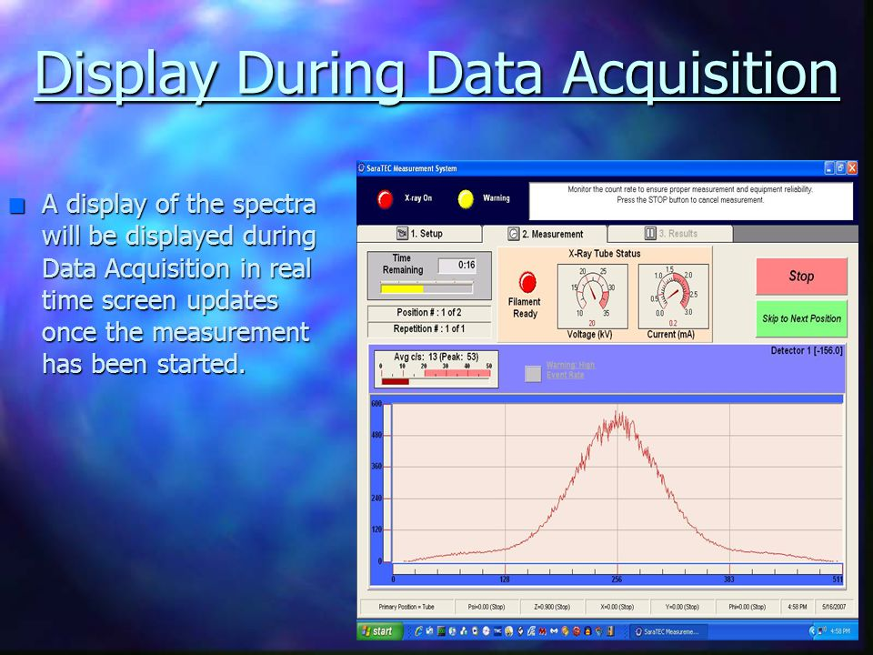Display During Data Acquisition