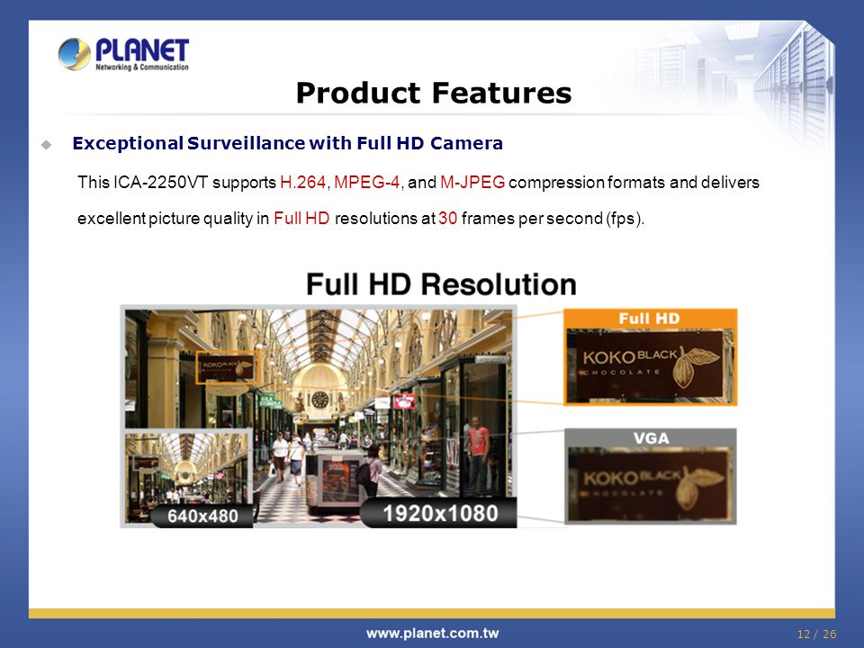 Product Features Exceptional Surveillance with Full HD Camera
